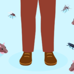 Rats And Bugs At Mans Feet In Homeless Shelter