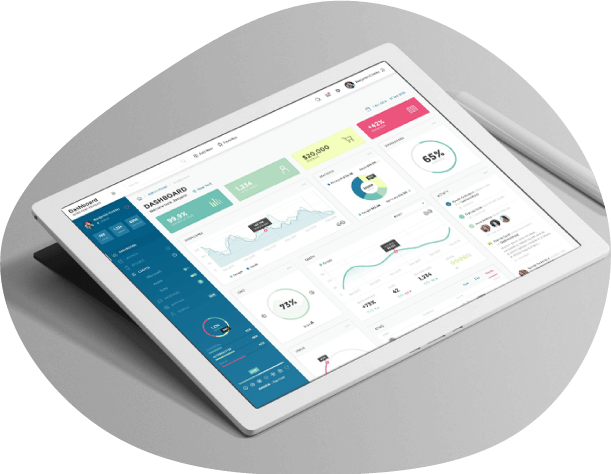 Tablet With Citizens Again Project Plan Admin Dashboard